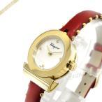 フェラガモ Ferragamo レディース腕時計 Gancino ガンチーニ 22mm ホワイトパール×レッド×ゴールド SF4300518