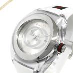 グッチ GUCCI メンズ腕時計 SYNC グッチシンク 46mm シルバー×ホワイト YA137102A [在庫品]