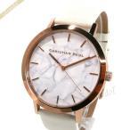 クリスチャンポール Christian Paul メンズ・レディース 腕時計 マーブル コレクション Whitehaven Marble 43mm ホワイト×ピンクゴールド MR-03 [在庫品]