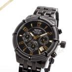 シャルルホーゲル Charles Vogele メンズ腕時計 スポーツ 40mm クロノグラフ ブラック×ゴールド CV-9033-1 [在庫品]