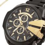 ディーゼル DIESEL メンズ腕時計 メガチーフ クロノグラフ Mega Chief 58mm ブラック×ゴールド DZ4338 [在庫品]
