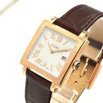 フェンディ FENDI メンズ腕時計 クワドロ スクエア ホワイト×ブラウン F604514021 [在庫品]