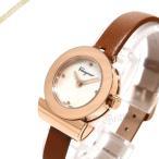 フェラガモ Ferragamo レディース腕時計 Gancino ガンチーニ 22mm ホワイトパール×ライトブラウン F43070017 [在庫品]