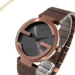 グッチ GUCCI メンズ・レディース 腕時計 インターロッキングG 37mm ダークグレー×ブラウン YA133317 [在庫品]