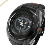 グッチ GUCCI メンズ腕時計 SYNC グッチシンク 46mm ブラック YA137107A [在庫品]