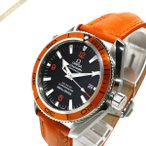 オメガ OMEGA メンズ腕時計 シーマスター プラネット オーシャン コーアクシャル 自動巻き 42mm ブラック×オレンジ 2909.50.38 [在庫品]