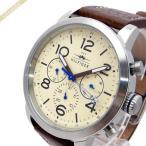 ショッピングTOMMY トミーヒルフィガー メンズ腕時計 マルチカレンダー 46mm アイボリー×ブラウン 1791230 [在庫品]
