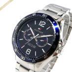 ショッピングトミー トミーヒルフィガー TOMMY HILFIGER メンズ腕時計 マルチカレンダー 48mm ネイビー×シルバー 1791366 [在庫品]