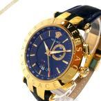 ヴェルサーチ VERSACE メンズ腕時計 Vレース GMT アラーム 46mm ネイビー 29G70D282S282 [在庫品]