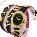 ヴェルサーチ VERSACE レディース腕時計 V-FLARE ロゴ ブレスウォッチ 28mm ブラック×ゴールド VEBN00218 [在庫品]