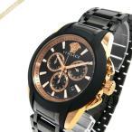 ヴェルサーチ VERSACE メンズ腕時計 キャラクタークロノ 42mm ブラック×ローズゴールド VEM800418 [取寄品]
