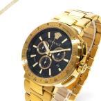 ヴェルサーチ VERSACE メンズ腕時計 ミスティック スポーツ クロノグラフ 46mm ブラック×ゴールド VFG190016 [在庫品]