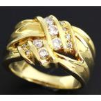 ショッピングused 【USED】K18 ダイヤモンド 0.40ct 幅広リング 12号
