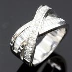 ショッピングused 【USED】K18WG ダイヤモンド/1.04ct テーパX型リング12号 13g