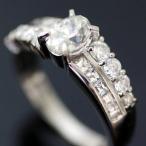 ショッピングused 【USED】Pt850 ダイヤモンド/0.71/0.69ct 豪華デザインリング 10号