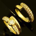 ショッピングused 【USED】K18 ダイヤモンド/0.215/0.795ct 2本組合せ3wayデザインリング 指輪