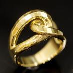 ショッピングused 【USED】K18 カットデザインリング #11/11号 10.4g 交差リング 地金 イエローゴールド 18金 指輪