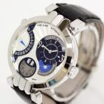 『USED』HARRY WINSTON/ハリー・ウィンストン プルミエール エキセンター タイムゾーン K18WG×レザー 腕時計 メンズ/約16.5〜20cm