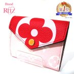 ルイヴィトン 財布 三つ折り財布 モノグラムジャイアンツ M67641 赤 ピンク SAランク レディース メンズ 中古 送料無料 あすつく 西宮店