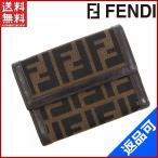 フェンディ 財布 レディース (メンズ可) FENDI 二つ折り財布 ズッカ 中古 X10396
