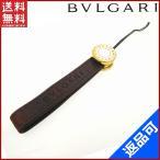ショッピングブルガリ ストラップ ブルガリ BVLGARI 携帯ストラップ キーホルダー ゴールド金具 中古 X10507