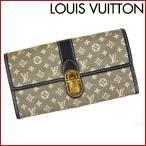 ルイヴィトン 財布 レディース (メンズ可) LOUIS VUITTON 長財布 M63006 ポルトフォイユ・サラ モノグラムミニ 中古 X12048