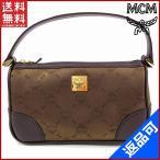 エムシーエム バッグ レディース (メンズ可) MCM ポーチ ハンドバッグ ハンカチ付き ロゴ (未使用品) X12305