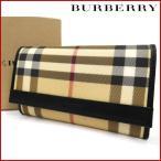バーバリー 財布 レディース (メンズ可) BURBERRY 二つ折り財布 ノバチェック 中古 X13585