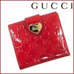 グッチ 財布 レディース GUCCI 二つ折り財布 Wホック財布 グッチシマ 中古 X15670