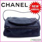 シャネル バッグ ニュートラベルライン CHANEL 化粧ポーチ ハンドバッグ 中古 X4317