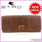 エトロ 財布 ETRO 長財布 ペイズリー ファスナー二つ折り 中古 X4351