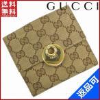 ショッピングGG グッチ GUCCI 財布 二つ折り財布 Wホック財布 ロゴプレート付き GG柄 中古 X4614