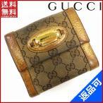 ショッピングGG グッチ GUCCI 財布 二つ折り財布 Wホック財布 ロゴプレート付き GG柄 中古 X4689