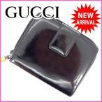 グッチ GUCCI 二つ折り財布 ラウンドファスナー メンズ可 バンブー [中古] (激安・即納) X5075