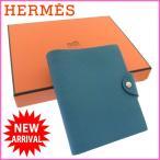 エルメス ユリスPM HERMES 手帳カバー ロゴ ノートカバー 中古 X5342