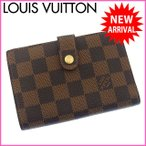 ルイヴィトン 財布 N61674 ポルトフォイユヴィエノワ LOUIS VUITTON 二つ折り財布 ダミエ がま口財布 中古 X6983