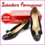 サルヴァトーレ・フェラガモ 靴 Salvatore Ferragamo パンプス ヴァラリボン #6C 中古 X7634