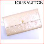 ルイヴィトン 財布 M91466 ポルトフォイユサラ LOUIS VUITTON 長財布 ヴェルニ ファスナー 二つ折り 新品同様中古 X8987