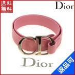 クリスチャン・ディオール レディース Christian Dior ベルト フラワー 新品同様中古 X9215