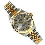 ROLEX ロレックス デイトジャスト 79173 NGR Y番 レディース ウォッチ 女性 腕時計 コンビ 10P ルビー スイス製 人気 ブランド 時計 おしゃれ 中古