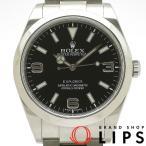 ロレックス エクスプローラー1ブラックアウト メンズ時計 214270(G) SS 黒文字盤 2010年以降 美品