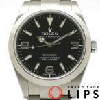 ロレックス エクスプローラー1ブラックアウト メンズ時計 214270(ランダム) SS 黒文字盤 2010年以降 美品