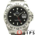 ロレックス エクスプローラー2オーバーホール済 メンズ 16570(F) SS 黒文字盤 OH・仕上げ済 F番 2004年製 美品【中古】
