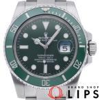 ロレックス サブマリーナ デイト保証書購入日 2014.09 メンズ時計 116610LV ランダム SS グリーン文字盤 仕上げ済 2010年以降の生産 美品