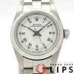 ロレックス オイスターパーペチュアルレディース時計 76080(A) SS 白文字盤 1999年製 美品 【中古】