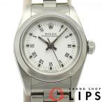 ロレックス オイスターパーペチュアル レディース時計 76080(P) SS 白文字盤 仕上げ済 2000年製 美品