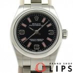 ロレックス オイスターパーペチュアル レディース時計 176200(ランダム) SS 黒文字盤 2010年以降の生産 仕上げ済 美品