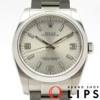 ロレックス オイスターパーペチュアル メンズ時計 116000(ランダム) SS シルバー文字盤 2010年以降の生産 美品