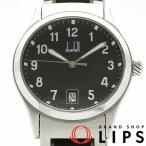 ダンヒル シティスケープ ウォッチ メンズ時計 8003 SS/革 黒文字盤 仕上げ済 美品
