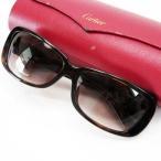 カルティエ Cartier サングラス 62□15 120 プラスチック フレーム:ブラウンxオレンジ(べっ甲風)xゴールド レンズ:ブラウン 定番人気